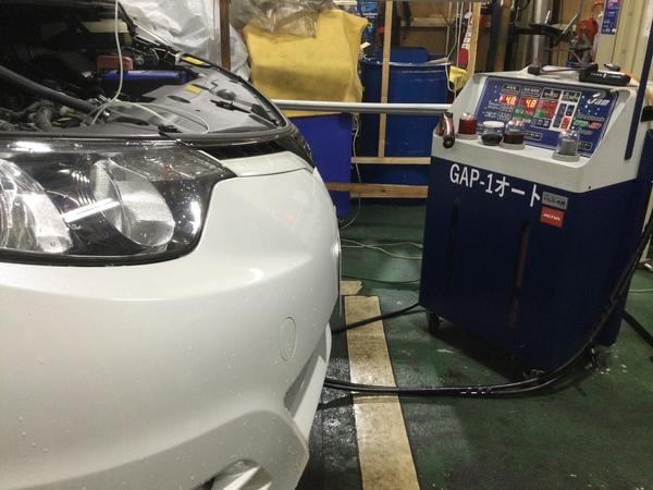 エスティマ GSR50W ATF圧送交換 RECS注入(エンジン内部洗浄)